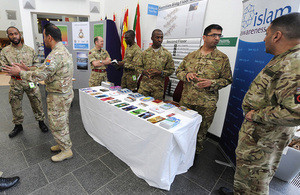 British Muslims share information about Islam during Islam Awareness Week at the army's headquarters in Andover. (Photo: Library, UK Government/Armed Forces)